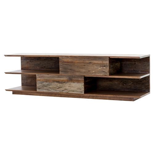 huge discount c01aa 84aa7 Donner Modern Rustic Peroba Beech Walnut Wood Media Console