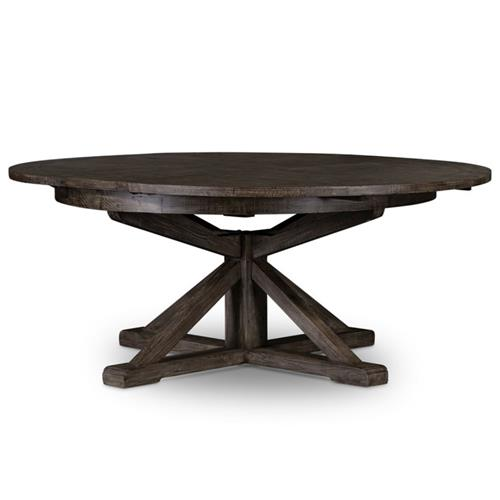 Chabert French Black Reclaimed Wood, Round Dining Table Small