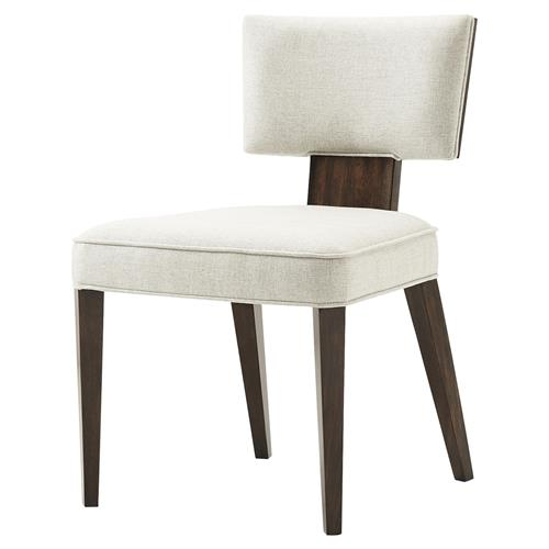 Theodore Alexander 55 Broadway Pacific Walnut Mahogany Dining Side Chair | Kathy Kuo Home