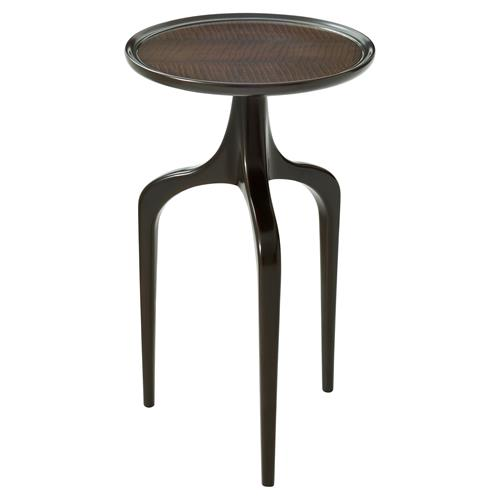 Theodore Alexander Balance II Amara Ebony Veneer Top Side End Table | Kathy Kuo Home