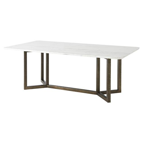 Marble Top Dining Room Tables: Theodore Alexander Hermosa Table Honed White Marble Top
