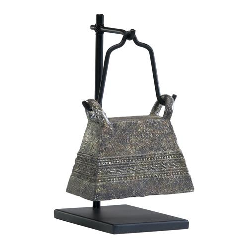 Antique Reproduction Global Bazaar Livestock Cowbell Sculpture Stand 3 | Kathy Kuo Home