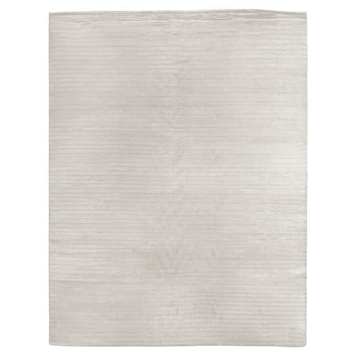 Exquisite Rugs High Low Modern Classic Channel Pattern Platinum Rug - 4' x 6' | Kathy Kuo Home