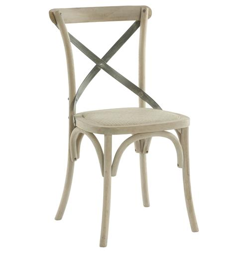 Kasson French Country Paris Cafe Wood Metal Dining Chair | Kathy Kuo Home