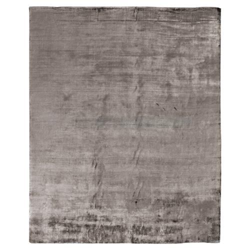 Exquisite Rugs Purity Modern Classic Heathered Elegant Mink Grey Bamboo Silk Rug - 6' x 9' | Kathy Kuo Home