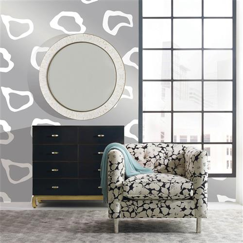 Molly Modern Classic Silver Removable Wallpaper | Kathy Kuo Home