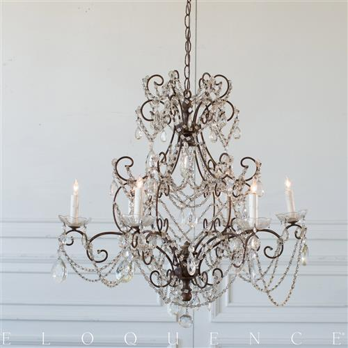 Eloquence French Country Style Antique Chandelier: 1890 | Kathy Kuo Home