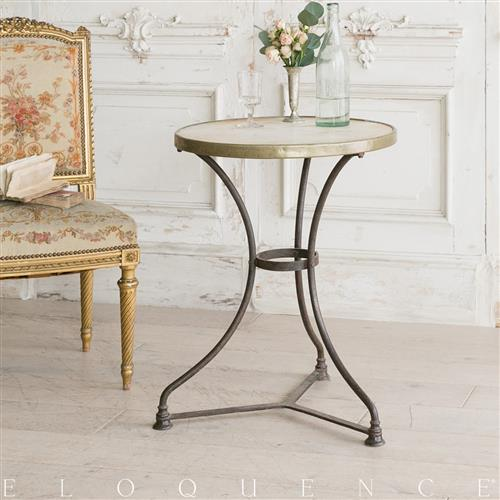 Eloquence French Country Style Antique Cafe Table: 1900 | Kathy Kuo Home