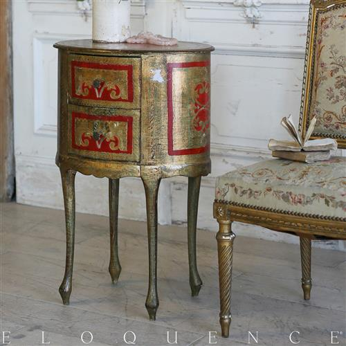 Eloquence French Country Style Vintage Nightstand:1930 | Kathy Kuo Home