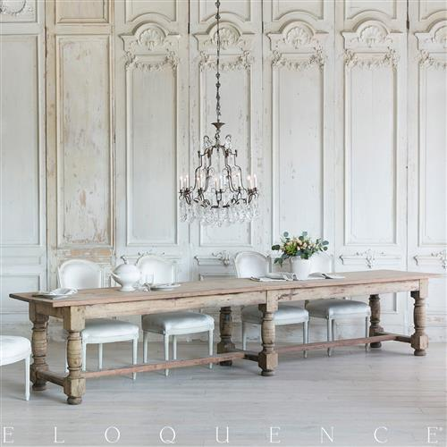 Eloquence French Country Style Antique Dining Table:1900 | Kathy Kuo Home
