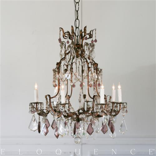 Eloquence French Country Style Antique Chandelier: 1880 | Kathy Kuo Home