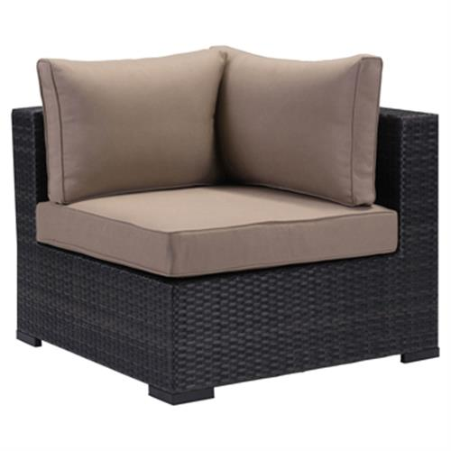 Bernard Modern Classic Weaved Performance Fabric Outdoor Sectional Corner | Kathy Kuo Home