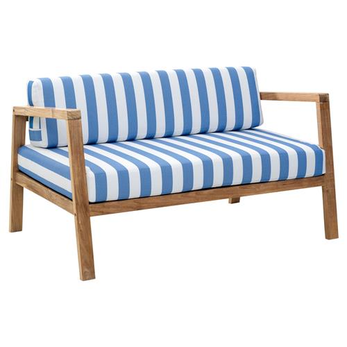 Barron Modern Classic Solid Teak Outdoor Sofa | Kathy Kuo Home