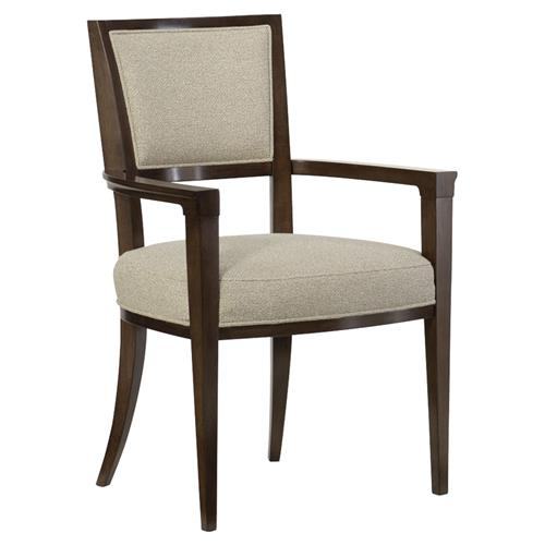 Goode Modern Classic Beige Tweed Upholstered Dining Arm Chair - Set of 2 | Kathy Kuo Home