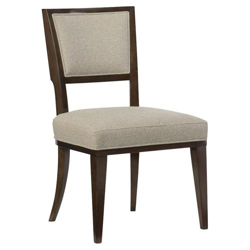 Goode Modern Classic Beige Tweed Upholstered Dining Side Chair - Pair | Kathy Kuo Home