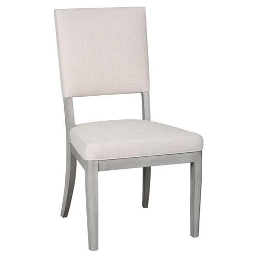 Jordan Modern Classic Dove Gray Wood Dining Side Chair | Kathy Kuo Home