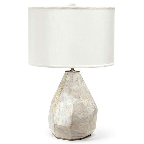 Palecek Aurora Modern Classic Geometric Marble Table Lamp | Kathy Kuo Home
