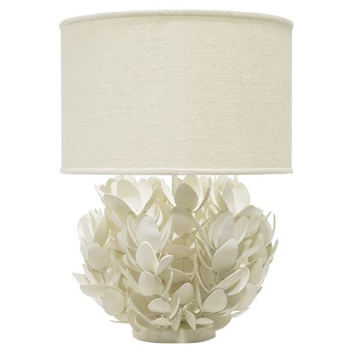 Palecek Magnolia Coastal Beach Coconut Shell White Table Lamp | Kathy Kuo Home