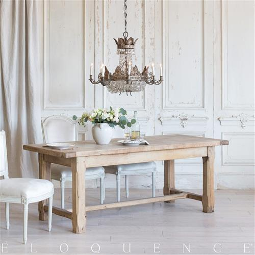 Eloquence French Country Style Antique Dining Table: 1900 | Kathy Kuo Home
