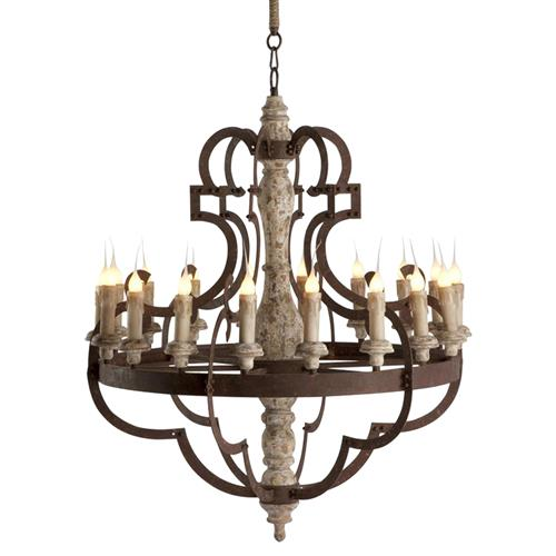Nurnberg Large Rustic Iron 18 Light Chandelier | Kathy Kuo Home
