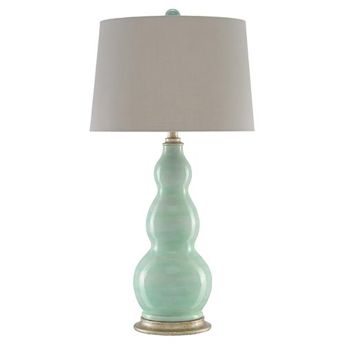 Noosa Coastal Beach Turquoise Terracotta Bubble Table Lamp | Kathy Kuo Home