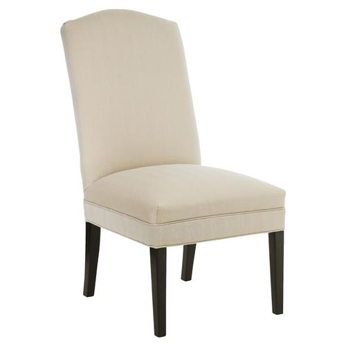 CR Laine Dolce Modern Classic Beige Sunbrella Upholstered Dining Side Chair | Kathy Kuo Home