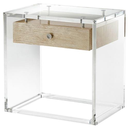 Theodore Alexander Generation Modern Lacquered Solid Acrylic Side End Table | Kathy Kuo Home