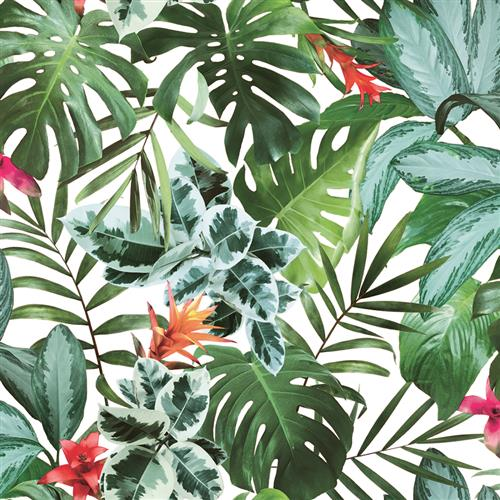 Green Rainforest Palm Print Removable Wallpaper Kathy Kuo Home
