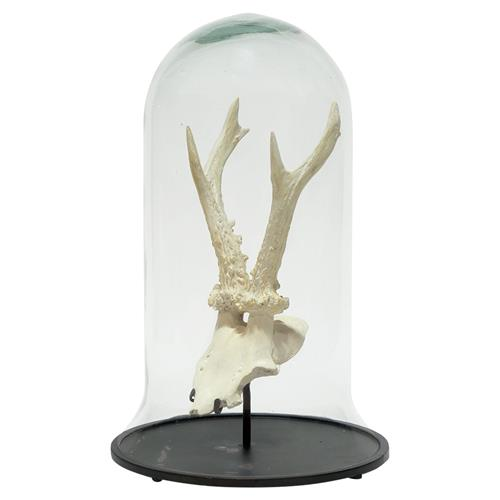 Palecek Amber Rustic Lodge Stonecast Antler Cloche | Kathy Kuo Home