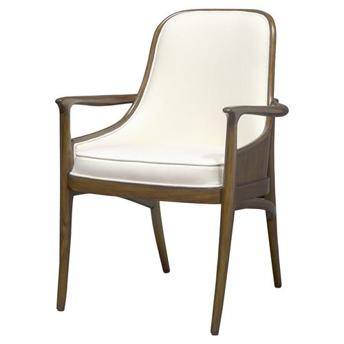 Palecek Woodland Modern Classic Veneer Back Dining Arm Chair | Kathy Kuo Home