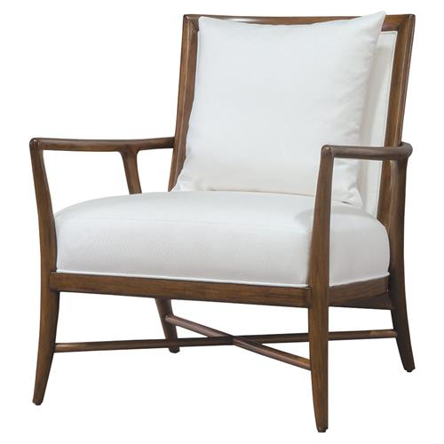 Palecek Davenport Coastal Beach Wood Frame Rattan Back Outdoor Lounge Chair Kathy Kuo Home