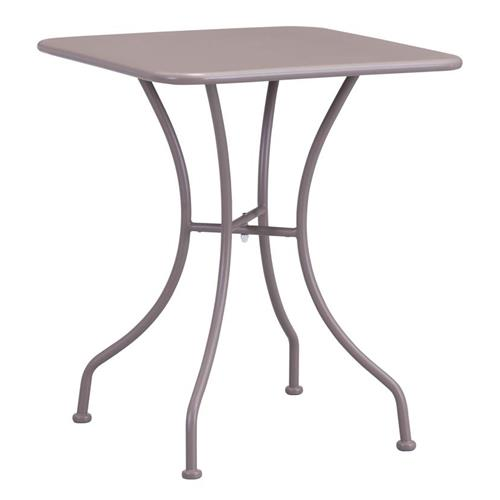 ollie french country steel square outdoor bistro dining table