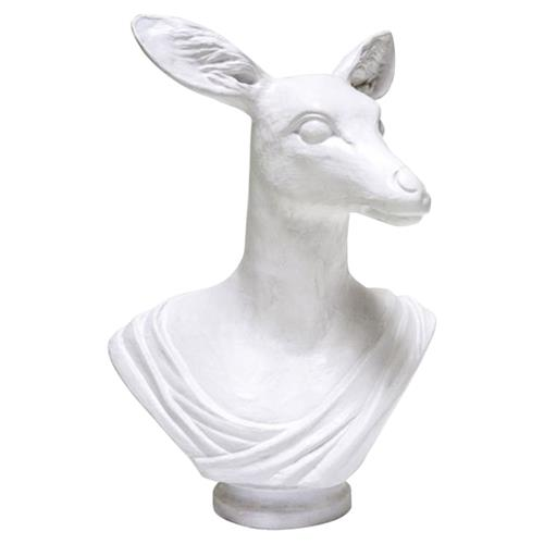 Oly Studio Athena Modern Classic Doe White Resin Sculpture | Kathy Kuo Home