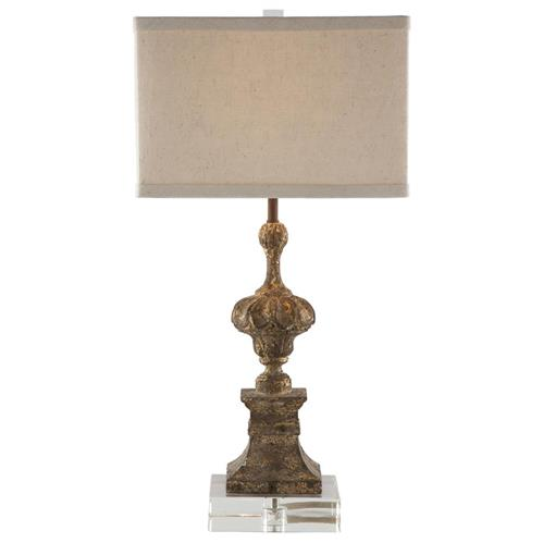 Treviso Swedish Vintage Gold Urn Based Table Lamp | Kathy Kuo Home