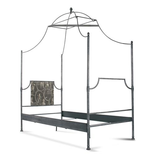 Dalton French Country Rustic Metal Old World Canopy Bed - Twin | Kathy Kuo Home