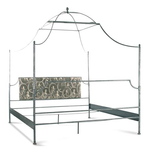 Dalton French Country Rustic Metal Old World Canopy Bed - King | Kathy Kuo Home