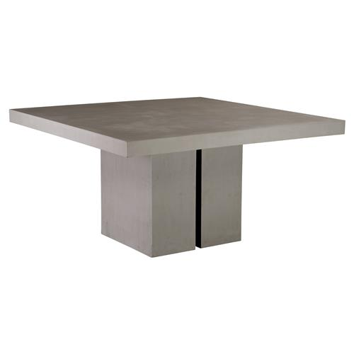 Canyon Modern Square Grey Concrete Outdoor Dining Table | Kathy Kuo Home