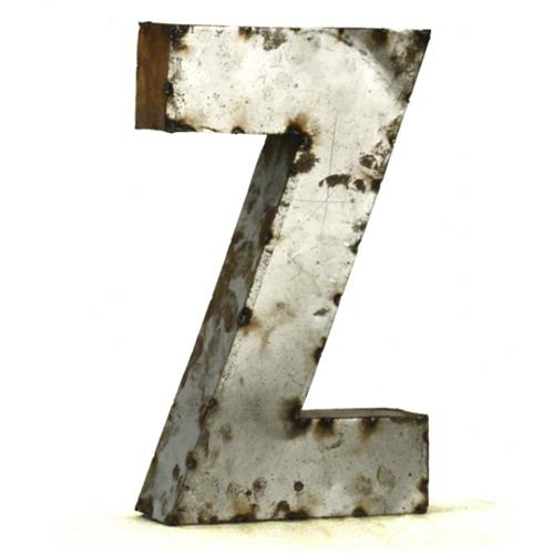 Industrial Rustic Metal Small Letter Z 18 Inch | Kathy Kuo Home