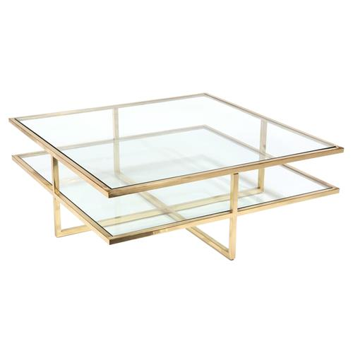 John Richard Modern Classic Polished Brass Glass Gold