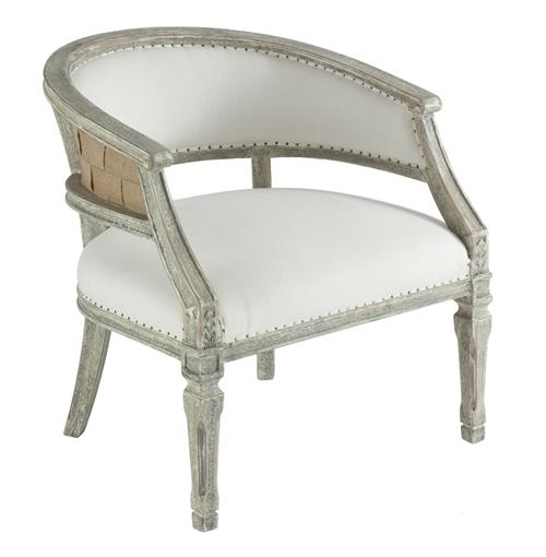 Mary Elizabeth Barrel Back Boudoir French Country Chair | Kathy Kuo Home