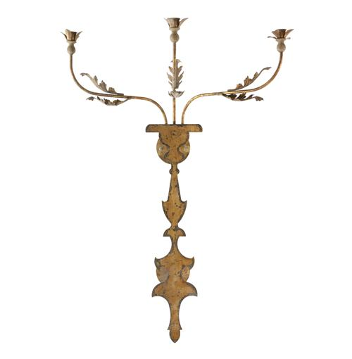 Veurne French Manor 42 Inch Rustic Iron Candle Wall Sconce | Kathy Kuo Home