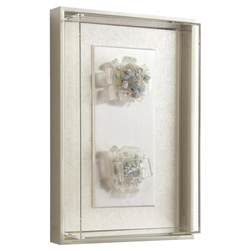John Richard Modern Classic Calcite Shadowbox I Acrylic Silver Framed Cluster | Kathy Kuo Home