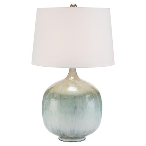 John Richard Coastal Beach Pearlized Silver Blue Table Lamp | Kathy Kuo Home