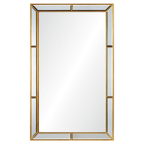 Erin Modern Classic Gold Leaf Hand Cut Mirror Framed Wall Mirror | Kathy Kuo Home