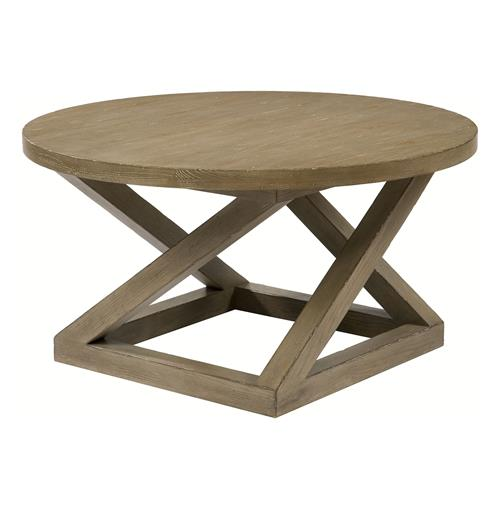 Modern Casual Distressed Taupe Grey Landon Cocktail Table | Kathy Kuo Home