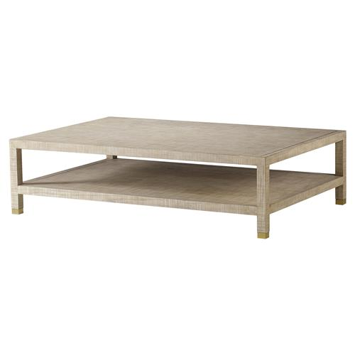 Maison 55 Raffles Modern Classic Rectangular Wood Coffee Table | Kathy Kuo Home