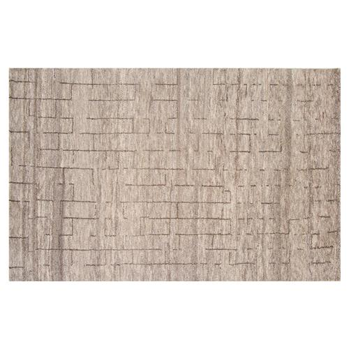 Resource Decor Abohar Modern Classic Brown Wool Rug - 5' x 8' | Kathy Kuo Home