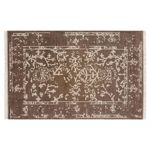 Resource Decor Belleville Global Bazaar Brown Wool Patterned Rug - 8' x 10' | Kathy Kuo Home