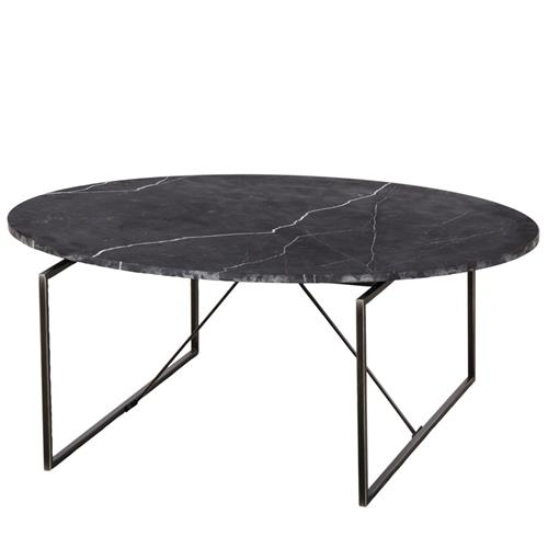 Square Coffee Table In White Marble And Black Metal Marble: Resource Decor Georgina Modern Classic Oval Black Marble