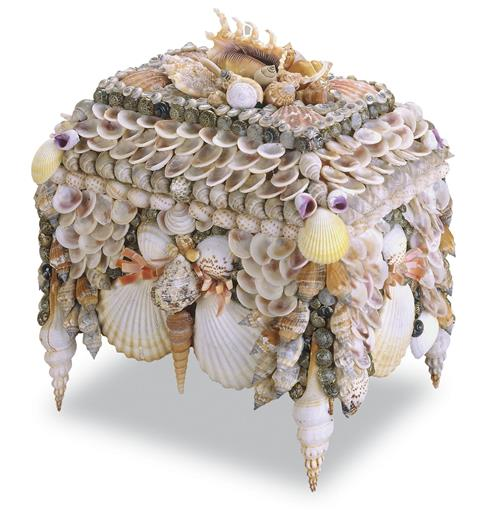 Bonita Coastal Beach Large Shell Jewelry Box | Kathy Kuo Home